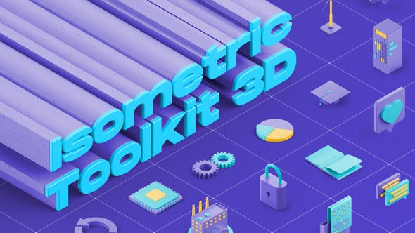 Videohive Isometric Toolkit 3D 29737190