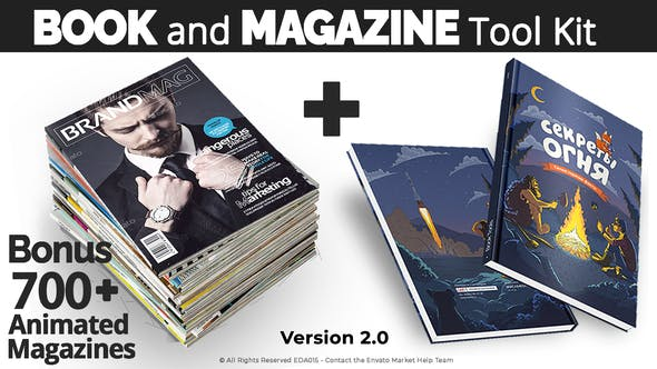 Videohive Book and Magazine ToolKit | 700+Premade Magazine Animations V2 27589024