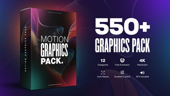 AtomX Motion Graphics Pack 550+ Animations Pack 23678923