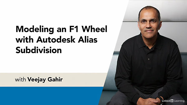 Modeling an F1 Wheel with Autodesk Alias Subdivision with Veejay Gahir