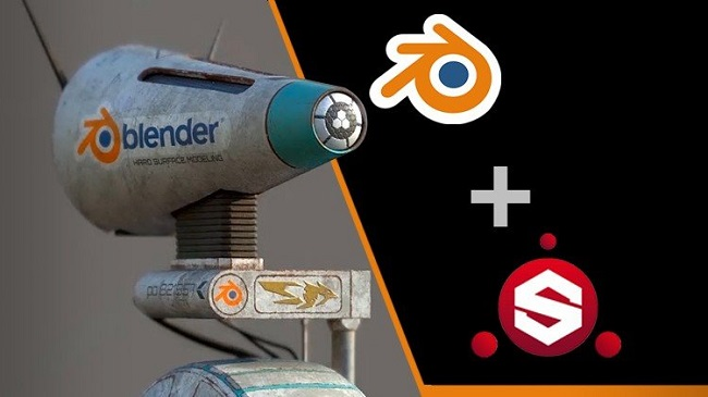 Create Star War Robot With Blender And Substance Painter By Mrawan Hussain