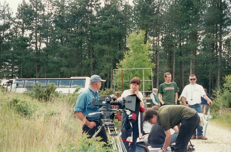 Klaudija Cermak and crew on the shoot of Visions of the Future