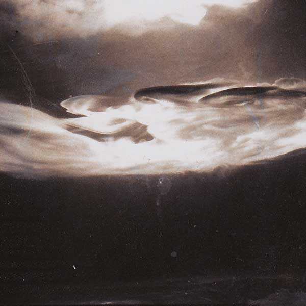 In this polaroid of the Close Encounters cloud tank in action, the desired wispy edges and density of the cloud-like patterns are apparent.