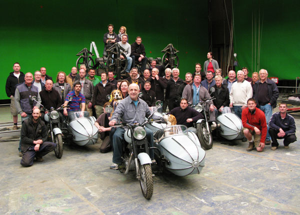 John Richardson fronts the effects crew gathered on one of the last of the Harry Potter series.