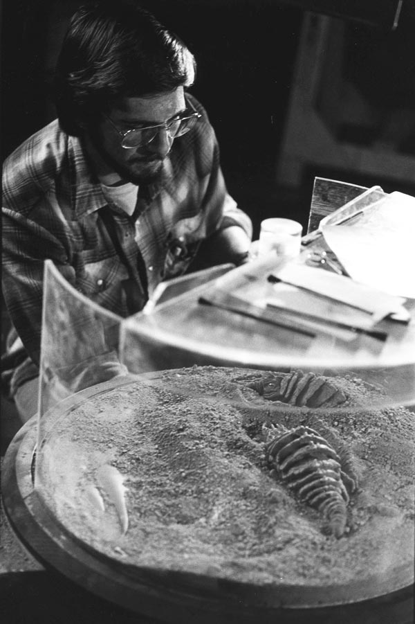 Ralston operates the Ceti eel for Star Trek II. Ralston designed the disgusting little critter and also shot all the inserts.
