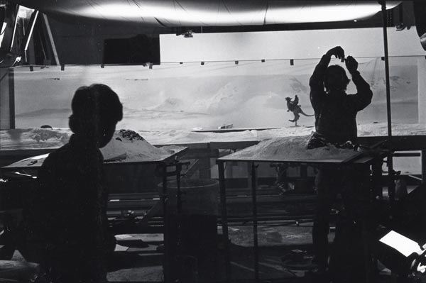 The stop-motion set for a Tauntaun scene on the planet Hoth. Compiled by Ian Failes Images courtesy of Phil Tippett/Tippett Studio.