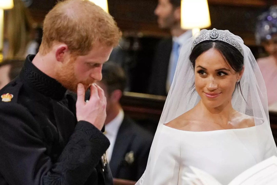 Harry and Meghan during their wedding ceremony