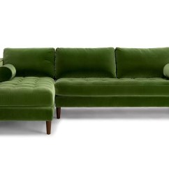 Emerald Corner Sofa Bed Victorville White Foldable Futon Green Avec Velvet With Br Legs Cb2