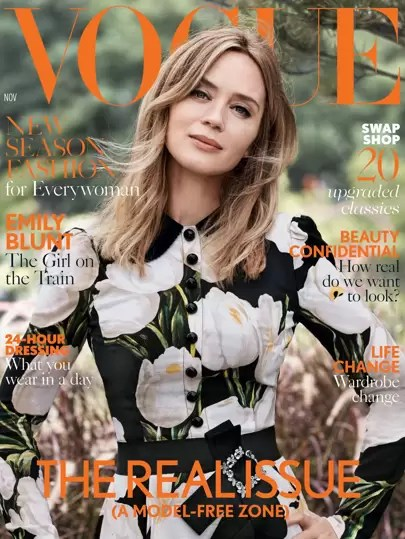 Emily Blunt Cover Star November 2016 British Vogue