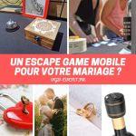 Escape game mobile sur table mariage VGB EVENT Lyon Rhone Alpes France personnalisable personnalisé