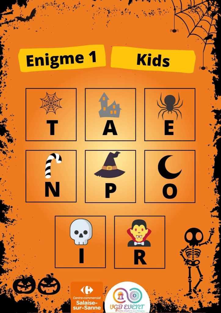 Halloween Enigme 1 kids vgb event Carrefour Salaise-min