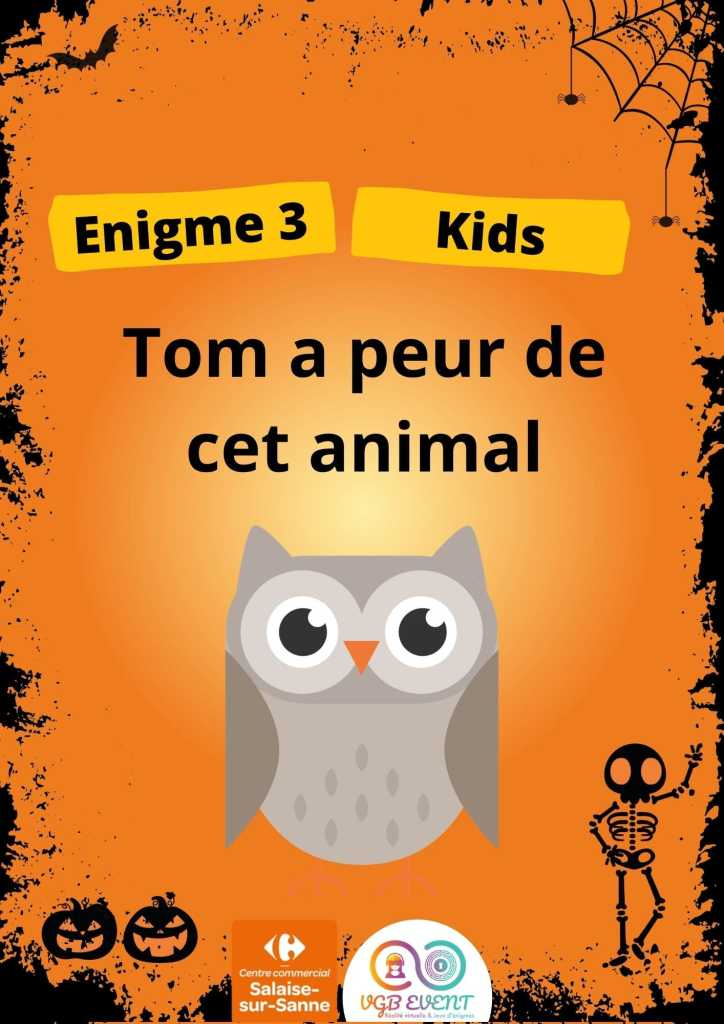 Halloween Enigme 3 kids vgb event Carrefour Salaise-min