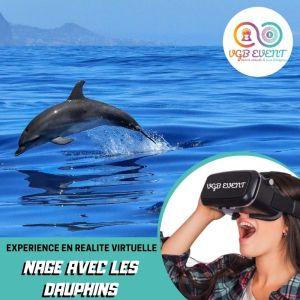 nage avec les dauphins expériences en réalité virtuelle VGB EVENT Lyon Rhone alpes France