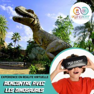 rencontre avec les dinosaures expériences en réalité virtuelle VGB EVENT Lyon Rhone alpes France