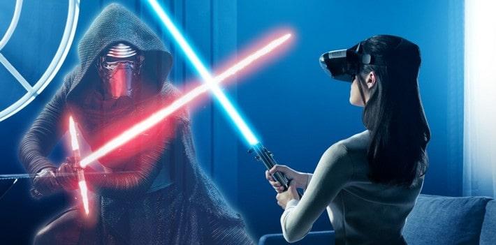 star wars combat sabre laser expériences en réalité virtuelle VGB EVENT Lyon Rhone alpes France