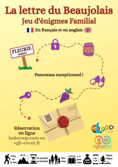 Flyer Parcours enigmes familial Fleurie