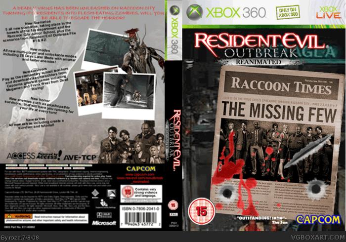 Resident Evil Outbreak Reanimated Xbox 360 Box Art Cover