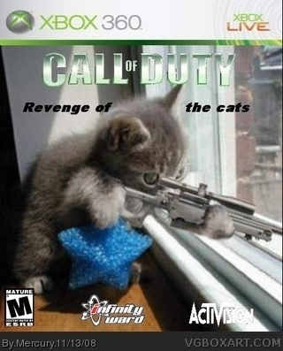 Call Of Duty Revenge Of The Cats Xbox 360 Box Art Cover By Mercury