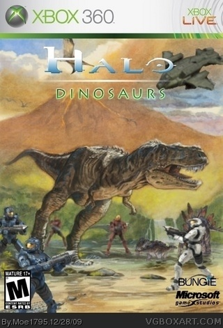 Halo Dinosaurs Xbox 360 Box Art Cover By Moe1795