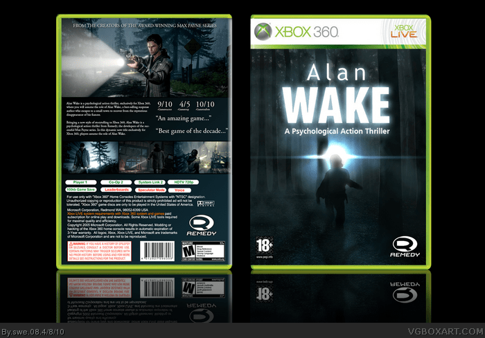 Alan Wake Xbox 360 Box Art Cover by swe 08