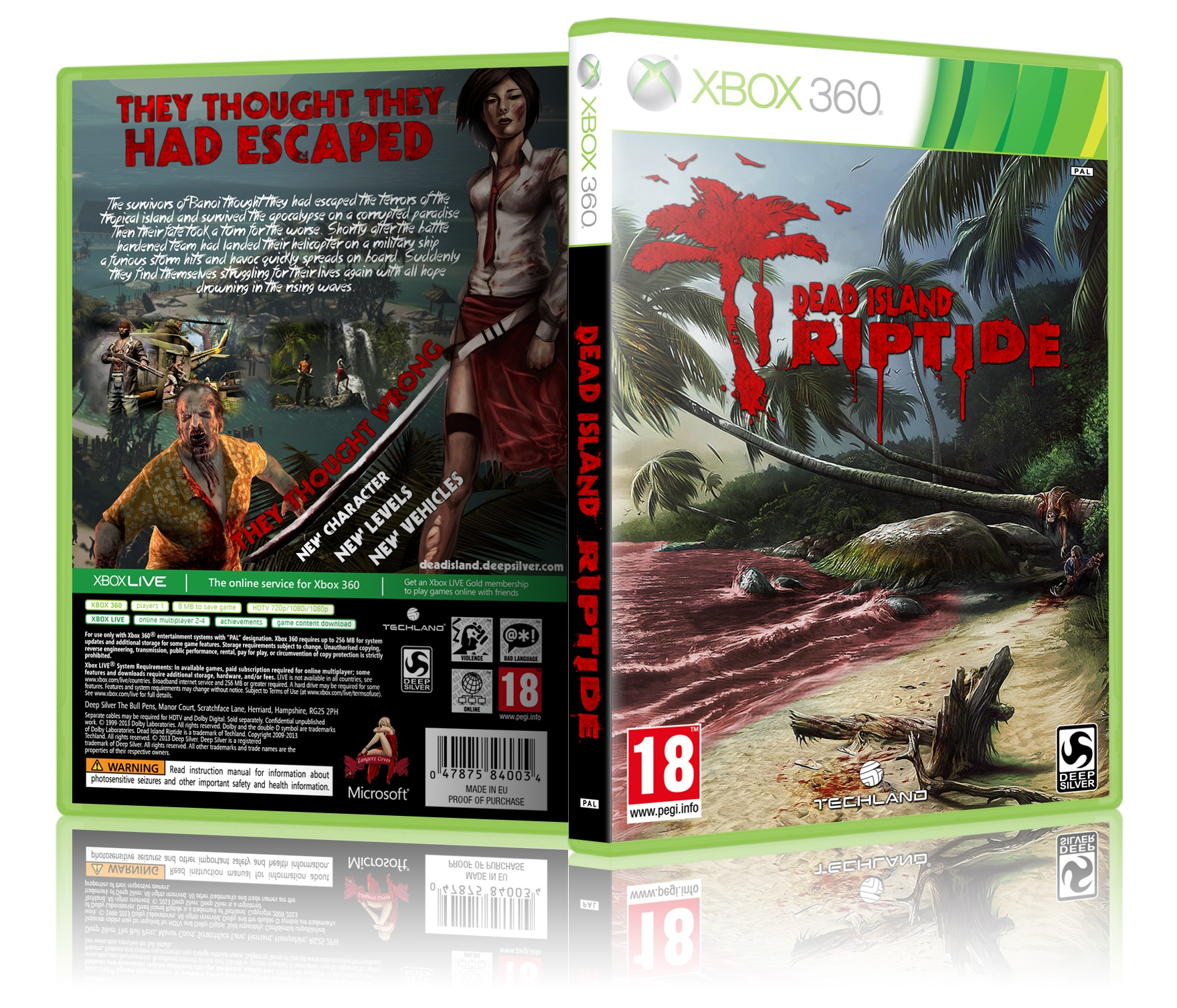 Dead Island Riptide Xbox 360 Box Art Cover By Langerz