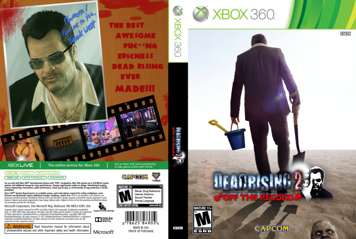Dead Rising 2 Off The Record Xbox 360 Box Art Cover By Ridd