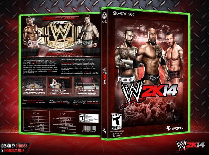 WWE 2K14 Xbox 360 Box Art Cover By TheNozzatron