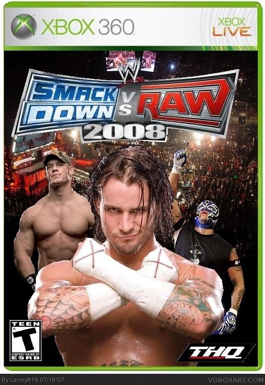WWE SmackDown Vs RAW 2008 Xbox 360 Box Art Cover By Lenny819