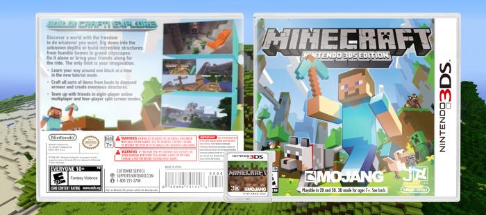 Minecraft Nintendo 3DS Edition Nintendo 3DS Box Art Cover