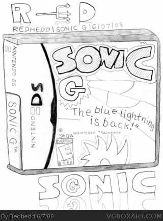Sonic G Nintendo DS Box Art Cover by Redhedd