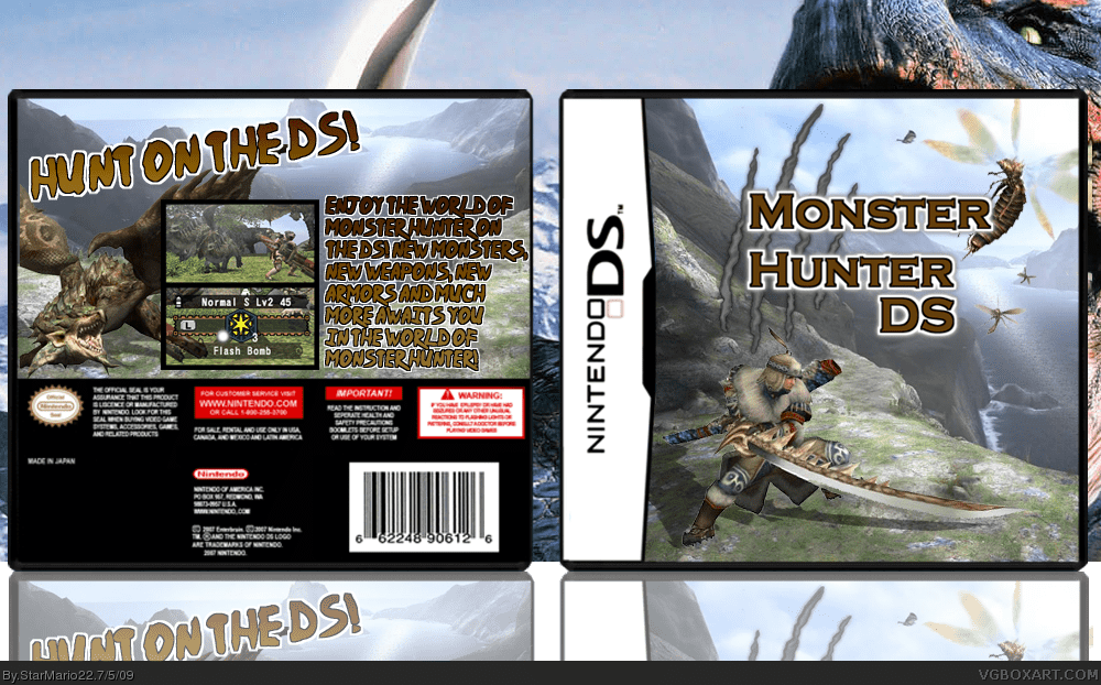 Monster Hunter DS Nintendo DS Box Art Cover By StarMario22