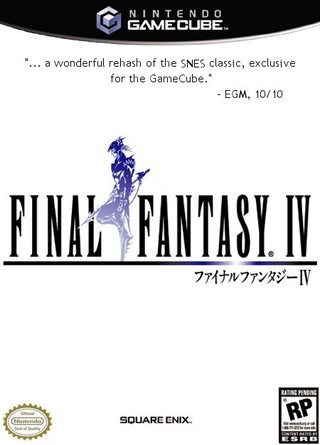 Final Fantasy IV GameCube Box Art Cover by kkk55
