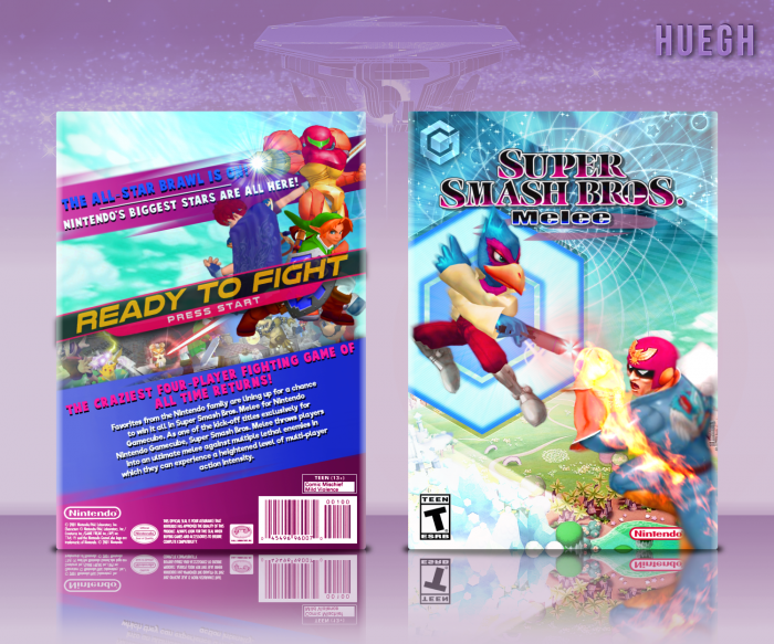 Super Smash Bros Melee GameCube Box Art Cover By Huegh