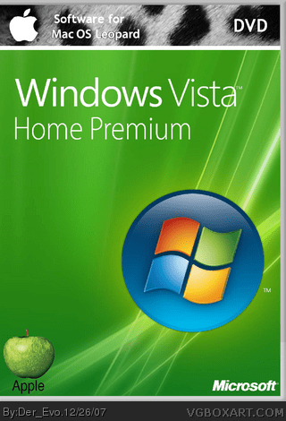 Windows Vista Home Premium for Mac PC Box Art Cover by Der Evo