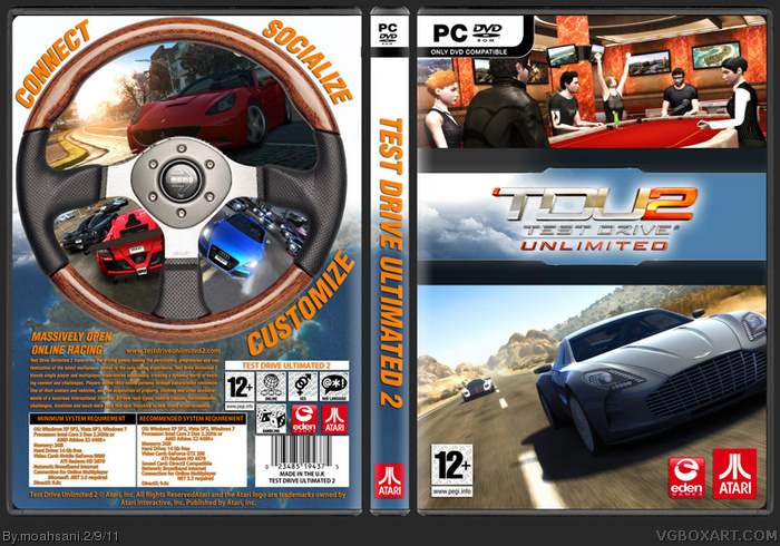 Test Drive Unlimited 2 PC Box Art Cover by moahsani