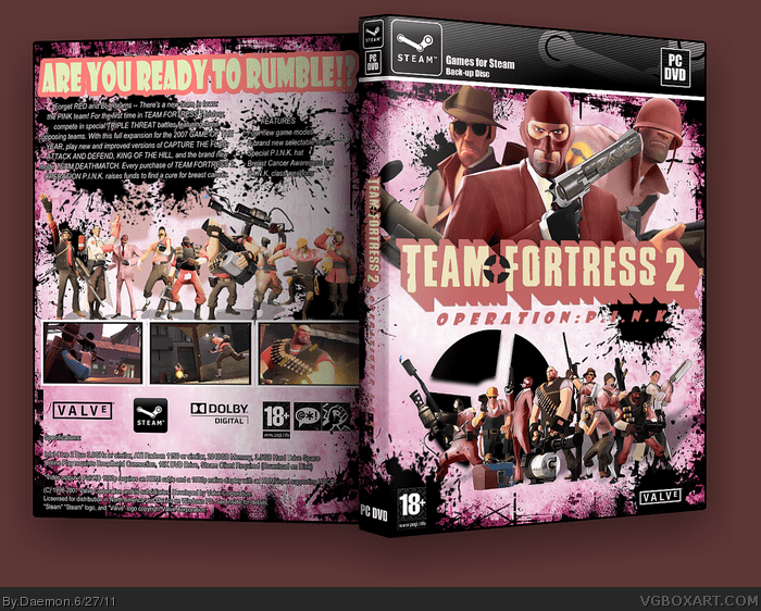 Team Fortress 2 Operation PINK PC Box Art Cover By