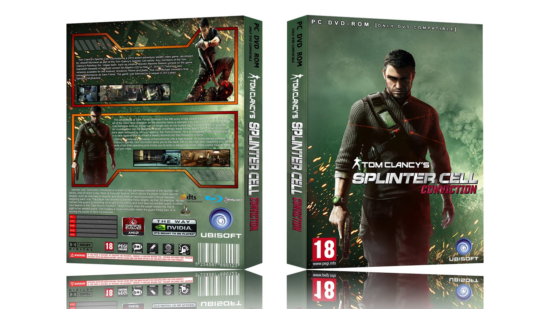 Viewing Full Size Splinter Cell Conviction Box Cover