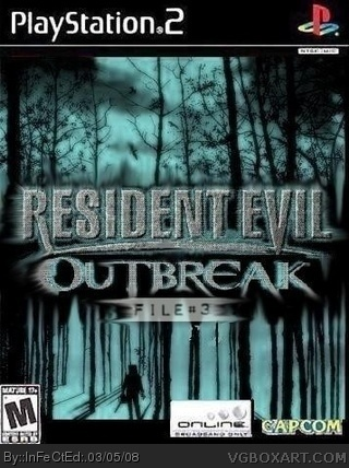 Resident Evil Outbreak File 3 Playstation 2 Box Art Cover