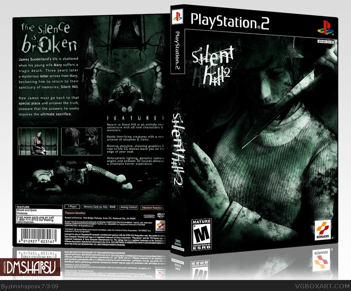 Silent Hill 2 PlayStation 2 Box Art Cover By Dmshaposv