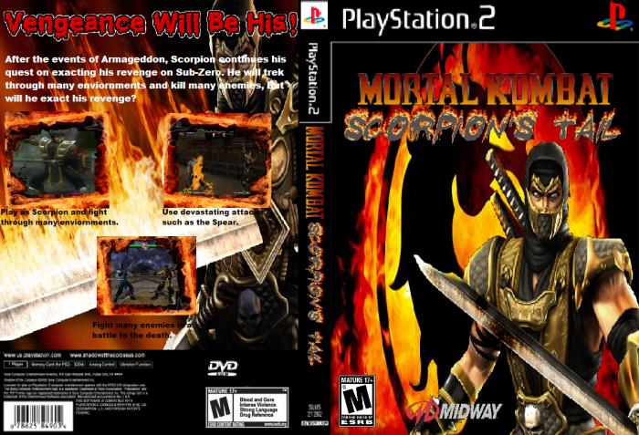 Mortal Kombat Scorpions Tail PlayStation 2 Box Art Cover By Spiderman882012