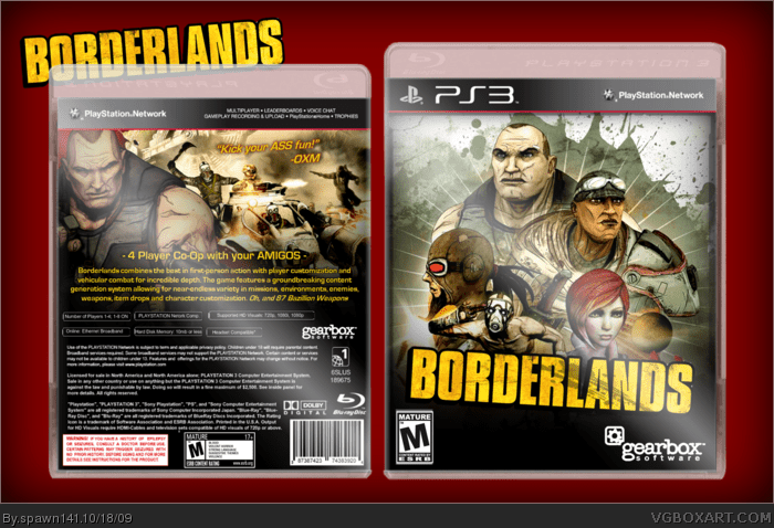 Borderlands PlayStation 3 Box Art Cover By Spawn141