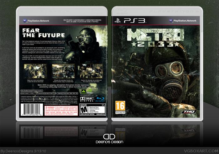 Metro 2033 PlayStation 3 Box Art Cover By DeenosDesigns