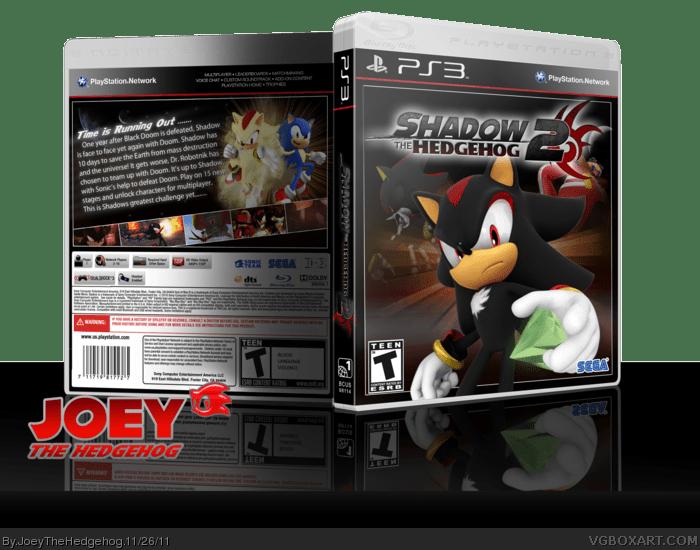 Shadow The Hedgehog 2 PlayStation 3 Box Art Cover By JoeyTheHedgehog