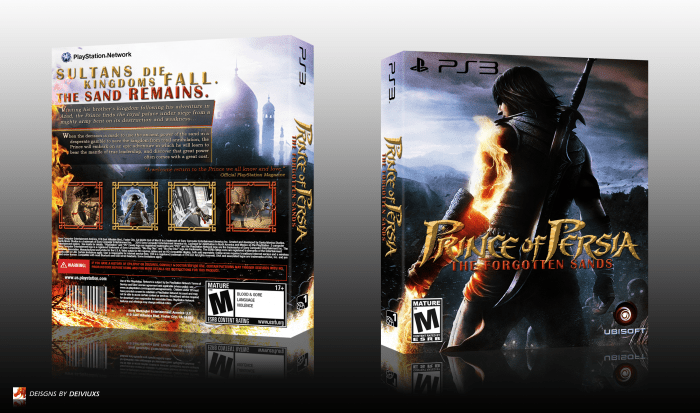 Prince Of Persia The Forgotten Sands PlayStation 3 Box