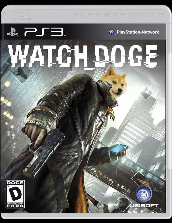 Watch Dogs Doge Edition PlayStation 3 Box Art Cover By