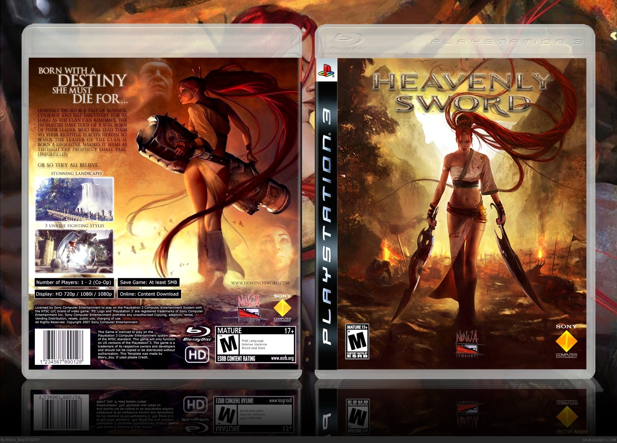 Heavenly Sword PlayStation 3 Box Art Cover By Blairyboy