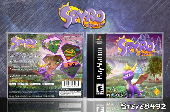 Spyro The Dragon PlayStation Box Art Cover By Steve8492