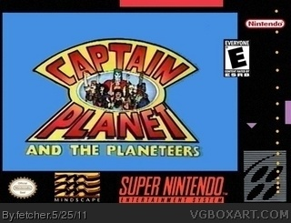 Captain Planet And The Planeteers SNES Box Art Cover By Fetcher
