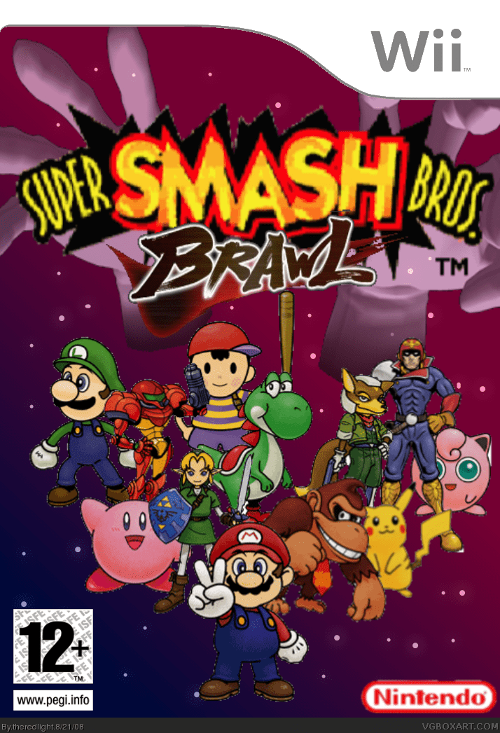 Super Smash Bros Brawl Special Edition Wii Box Art Cover