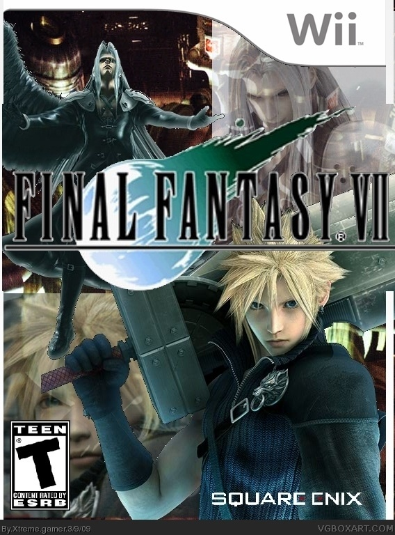Final Fantasy VII Wii Box Art Cover By Xtreme Gamer